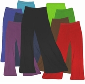 SALE! STOCK JUST ADDED! COTTON/POLY Jersey Knit Stretchy Wide Leg Palazzo Pants with Elastic Waist Plus Size & Supersize XL 0x 1x 2x 3x
