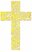 SALE! Lace Yellow Cross Plus Size & Supersize T-Shirts S M L XL 2xl 3xl 4x 5x 6x 7x 8x
