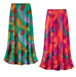 SALE! Customizable Birds of a Feather Slinky Print Plus Size & Supersize Skirts - Sizes Lg to 9x