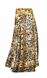 SALE! Customizable Black Ornate With Gold Metallic Slinky Print Plus Size & Supersize Skirts - Sizes Lg XL 1x 2x 3x 4x 5x 6x 7x 8x 9x