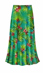SALE! Customizable Green Orchid Slinky Print Plus Size & Supersize Skirts - Sizes Lg to 9x
