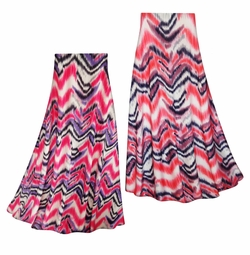 SALE! Customizable Groovy Zig Zags Slinky Print Plus Size & Supersize Skirts - Sizes Lg to 9x