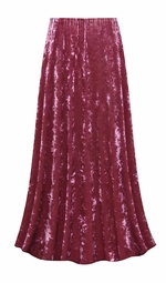 SALE! Customizable Mauve Ice Velvet Plus Size & Supersize Skirt - Sizes Lg XL 0x 1x 2x 3x 4x 5x 6x 7x 8x 9x