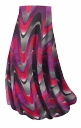SALE! Customizable Pink and Purple Zig Zag Swirls Slinky Print Plus Size & Supersize Skirts - Sizes Lg to 9x