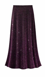 SALE! Customizable Purple Glimmer Slinky Print Plus Size & Supersize Skirts - Sizes Lg to 9x