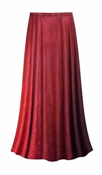 SALE! Customizable Red to Burgundy Velvet Ombre Print Plus Size & Supersize Skirts - Sizes Lg to 9x