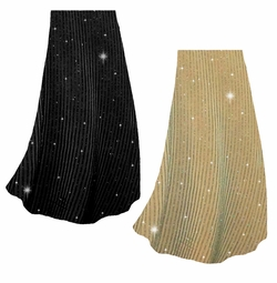 SALE! Customizable Ribbed Glimmer Vertical Lines Slinky Print Plus Size & Supersize Skirts - Sizes Lg to 9x