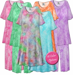 NEW! Customizable Tie Dye Plus Size & SuperSize Muumuu - Moo Moo Dress or Pajama Pant Set 0x 1x 2x 3x 4x 5x 6x 7x 8x 9x