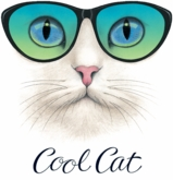 SALE! Cute Cool Cat Plus Size & Supersize T-Shirts S M L XL 2x 3x 4x 5x 6x 7x 8x (Lights Only)