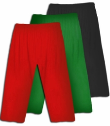 Sale! Cute Poly/Cotton Stretch Plus Size SUPERSIZE Capri's Red Green Black Burgundy Blue Purple 1x 2x 3x 4x 5x 6x 7x 8x