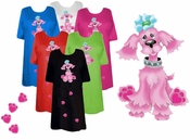 SALE! Cutest Pink Puppy with Blue Bow! Plus Size & Supersize Dog T-Shirts