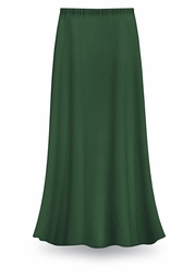 CLEARANCE! Dark Green Color Slinky Plus Size Supersize Skirt 1x 5x