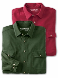 SALE! Dark Green or Burgundy Denim Long Sleeve Plus Size Shirt 7x 8x 9x