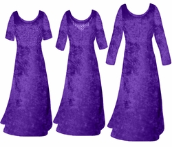SALE! Dark Purple Crush Velvet Plus Size & Supersize Sleeve Dress 1x 2x 4x 9x