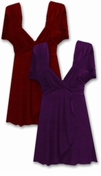 Sale!!! Dark Purple or Dark Red Slinky Plus Size Babydoll Shirt 1x 2x 5x