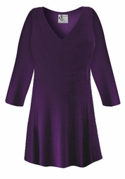 CLEARANCE! Dark Purple Slinky Plus Size & Supersize Shirt 2x 3x