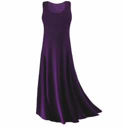 CLEARANCE! Purple Slinky Plus Size & Supersize Tank Dress XL 1x 2x 5x