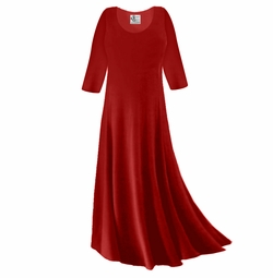 CLEARANCE! Dark Red Slinky Plus Size & Supersize Sleeve Dress 0x