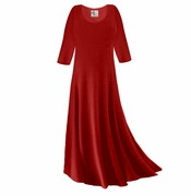 SOLD OUT! CLEARANCE! Dark Red Slinky Plus Size & Supersize Sleeve Dress 0x
