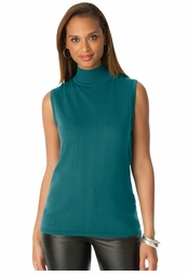 SALE! Dark Teal Mockneck Plus Size Tank Sweater 4x/30-32