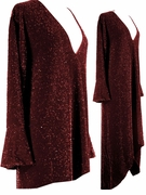 SALE! Dazzling Burgundy Glimmer Plus Size & Supersize Dresses & Shirts 0X 1X 4X