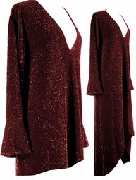 SALE! Dazzling Burgundy Glimmer Plus Size & Supersize Dresses & Shirts 0X 1X 3X