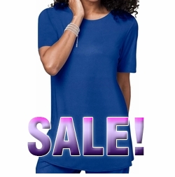 SALE! Dk Royal Blue Plus Size Slinky Tee Style Shirt 5x