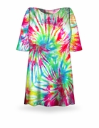 CLEARANCE! Double Rainbow Tie Dye Plus Size T-Shirt XL