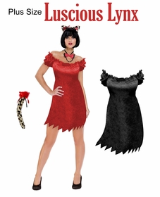 SALE! Luscious Lynx Plus Size & Supersize Halloween Costume / Accessory Kit! Lg XL 1x 2x 3x 4x 5x 6x 7x 8x 9x