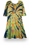 SALE! Fireworks Glory Tie Dye Plus Size & Supersize X-Long T-Shirt 0x 1x 2x 3x 4x 5x 6x 7x 8x