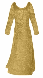 SALE! Gold Crush Velvet Plus Size & Supersize Sleeve Dress 4x 6x