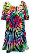 SALE! Midnight Prism Tie Dye Plus Size & Supersize X-Long T-Shirt 0x 1x 2x 3x 4x 5x 6x 7x 8x