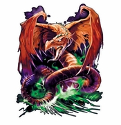 SALE! Great Wyrm Dragon Plus Size & Supersize T-Shirts S M L XL 2x 3x 4x 5x 6x 7x 8x (Lights Only)