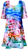 SALE! Green Blue Purple Pink Tie Dye Plus Size Supersize A-Line or Princess Seam X-Long T-Shirt 1x 2x 3x 4x 5x 6x 8x