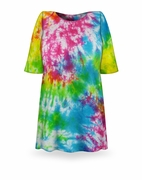 SALE! Green Blue Purple Pink Tie Dye Plus Size T-Shirt XL 2x 3x 4x 5x 6x