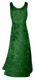 SALE! Green Crush Velvet Plus Size & Supersize Tank Dress 0x 2x
