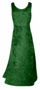 SALE! Green Crush Velvet Plus Size & Supersize Tank Dress 2x