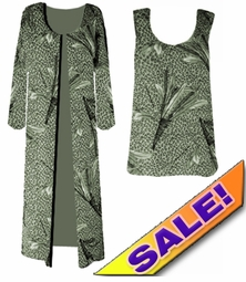FINAL SALE! Green Leopard Feathers Slinky Plus Size & Supersize Dresses Shirts & Jackets 1x 4x