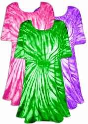 SALE! Green Purple or Hot Pink Colorful Swirl Tie Dye Plus Size & Supersize X-Long T-Shirt 1x 2x 3x 4x 5x 6x 8x