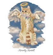 SALE! Heavenly Hairball Kitty!  Plus Size & Supersize T-Shirts S M L XL 2x 3x 4x 5x 6x 7x 8x (Lights Only)