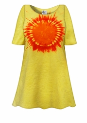 SALE! Hello Sunshine Tie Dye Plus Size & Supersize X-Long T-Shirt 0x to 8x