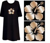 FINAL SALE! Hibiscus Tattoo Plus Size & Supersize T-Shirts 4xl 4x