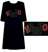 SOLD OUT! FINAL SALE! HO HO HO! Rhinestone Plus Size & Supersize T-Shirt! 8x