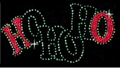 SALE! HO HO HO! Rhinestone Plus Size & Supersize T-Shirt! S M L XL 2x 3x 4x 5x 6x 7x 8x - Many Colors!