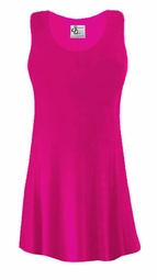 SALE! Hot Pink Slinky Plus Size & Supersize Sleevless Shirt 9x