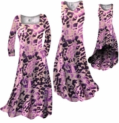 SOLD OUT! CLEARANCE! Hot Purple & Mauve Leopard Slinky Print Plus Size & Supersize Dresses 1X 4X