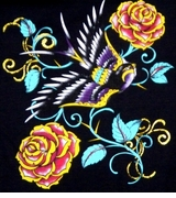 SALE! Hot! Tattoo Prints!  Sparrow & Roses Plus Size & Supersize T-Shirts S M L XL 2x 3x 4x 5x 6x 7x 8x