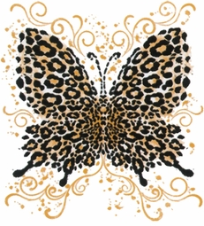 SALE! Hot! Tattoo Prints!  Leopard Butterfly Plus Size & Supersize T-Shirts S M L XL 2x 3x 4x 5x 6x 7x 8x 9x
