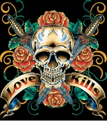 SALE! Hot! Tattoo Prints!  Love Kills Plus Size & Supersize T-Shirts S M L XL 2x 3x 4x 5x 6x 7x 8x