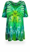 SALE! Itsy Bitsy Spider Green/Yellow Tie Dye Plus Size T-Shirt L XL 2x 3x 4x 5x 6x
